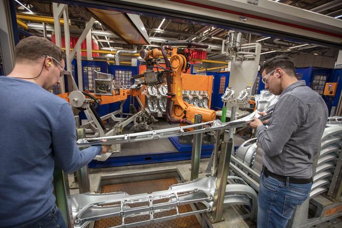 De plaatcomponentenfabriek van DAF in Eindhoven.