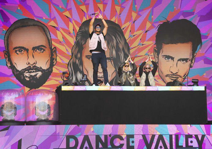 Kriss Kross Amsterdam tijdens de 25e editie van het dancefestival Dance Valley.