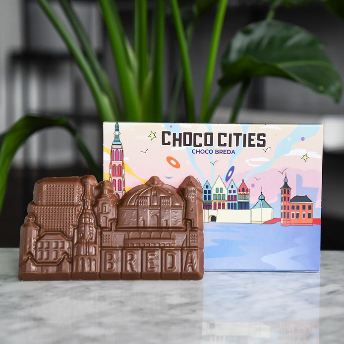De skyline van Breda in chocolade.