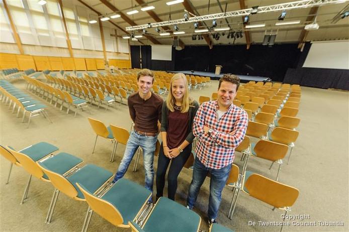 Jerk van den Dool, Hanneke Tijhof en Sander van Dijk van christelijke jongerenvereniging Transformed.