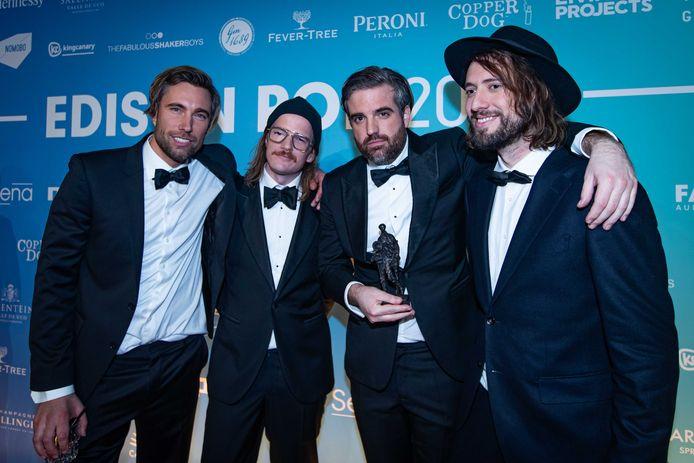 Kensington ontving de Edison voor de categorie Rock tijdens de uitreiking van de Edison Pop 2020 prijzen in de Gashouder op de Westergasfabriek.