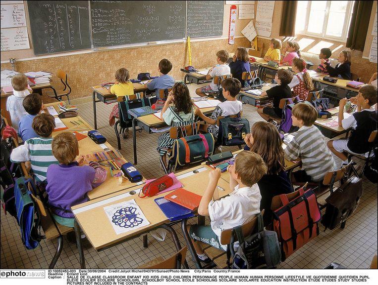 In tegenstelling tot op deze foto zullen veel klaslokalen morgen leeg blijven.