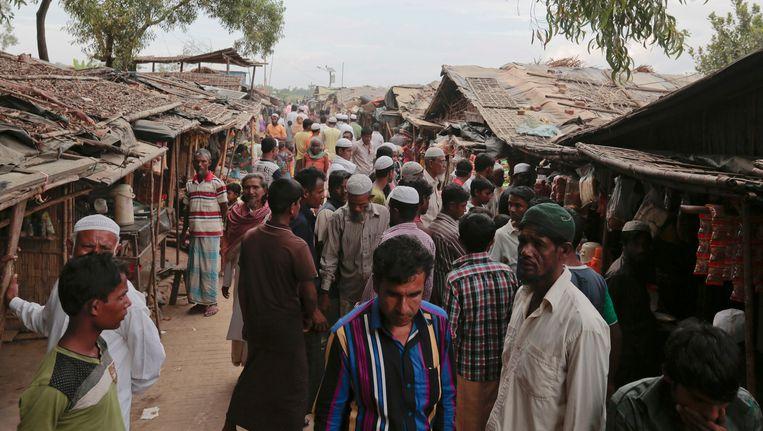 Rohingya-vluchtelingen in het kamp Teknaf nabij Cox's Bazar.