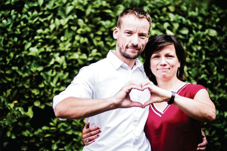 Lijsttrekker Bart Callaert en Tanja van Keer. Op de derde plaats staat niet langer Bart Servaes.