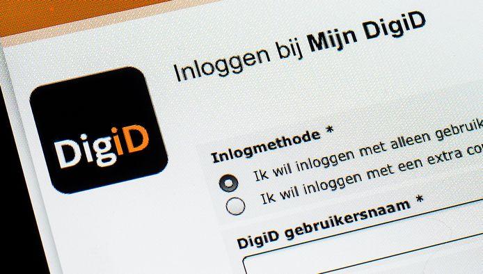 De website van DigiD