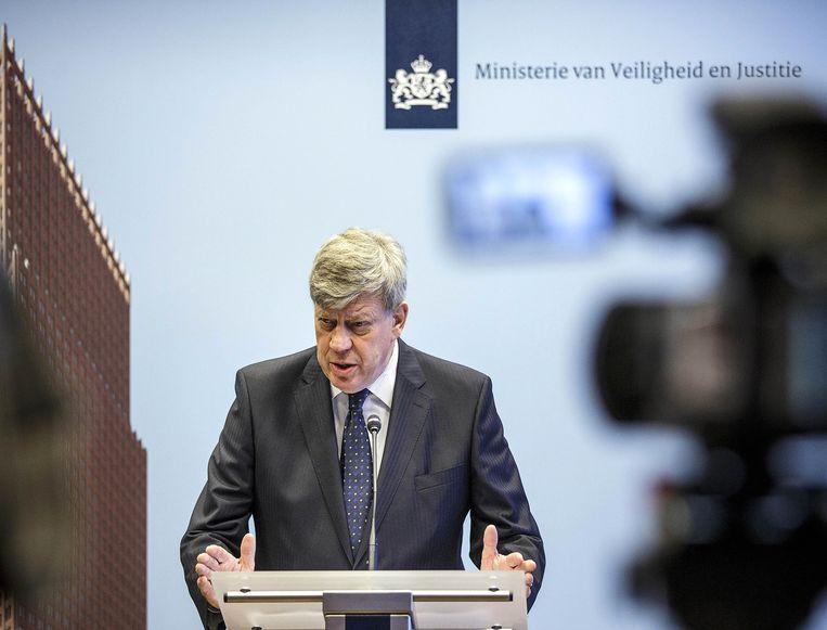 De Nederlandse minister Ivo Opstelten.