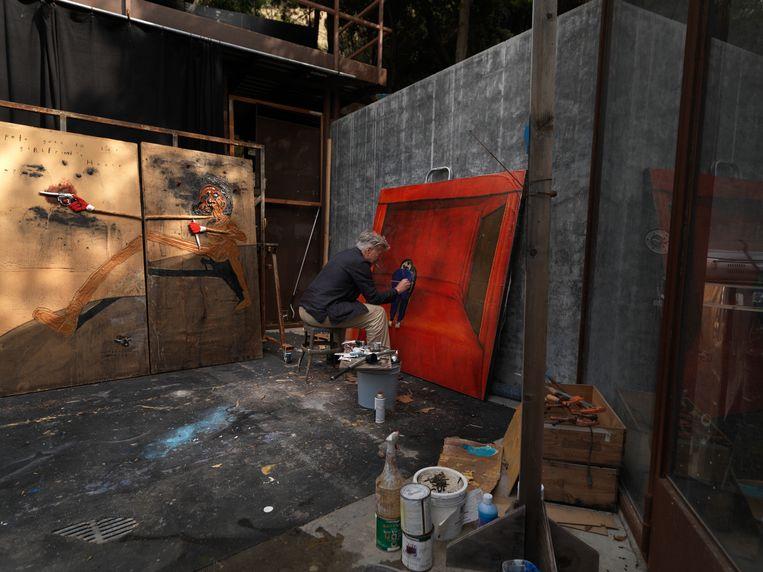 David Lynch in zijn studio  Beeld David Lynch