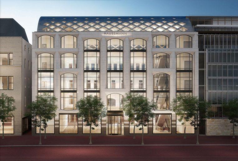 Impressie van het nieuwe warenhuis Beeld Rijnboutt Architecten