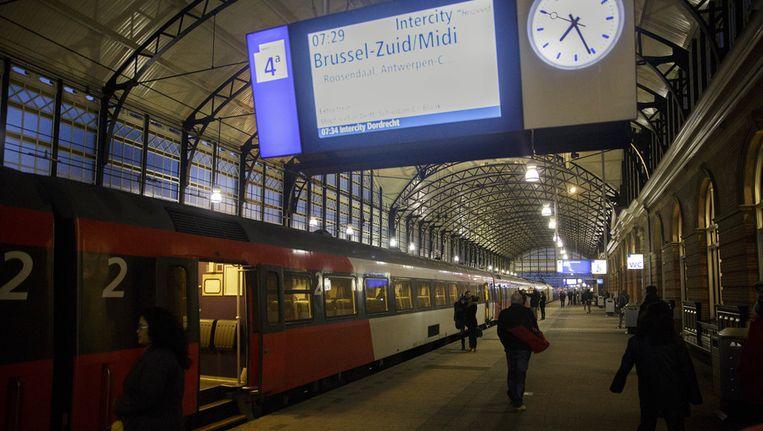 De eerste nieuwe directe trein van Den Haag naar Brussel Beeld ANP