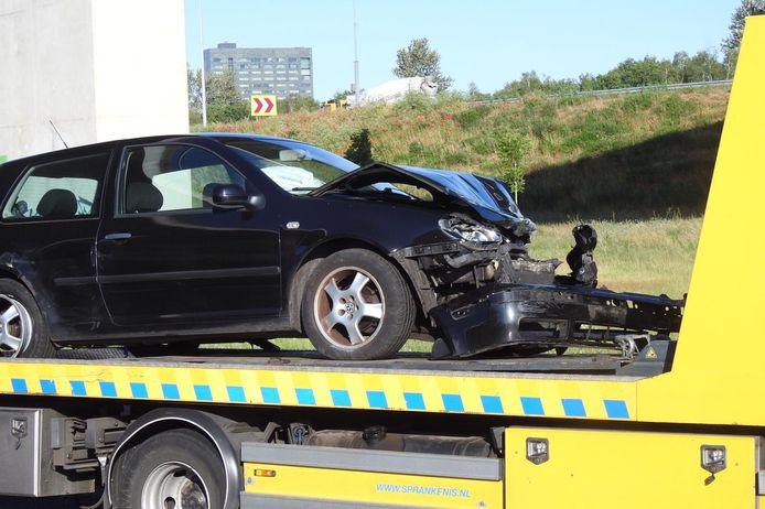 Door een ongeval bij knooppunt De Hogt in Eindhoven was donderdagochtend de verbindingsweg van de A67 naar de A2 afgesloten voor het verkeer.