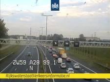 File door ongeluk in avondspits op A28 bij Nieuwleusen