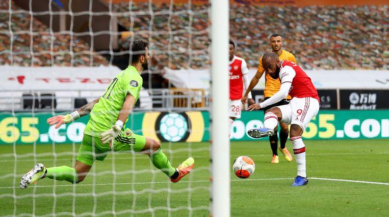 Lacazette besliste de wedstrijd met de 0-2.