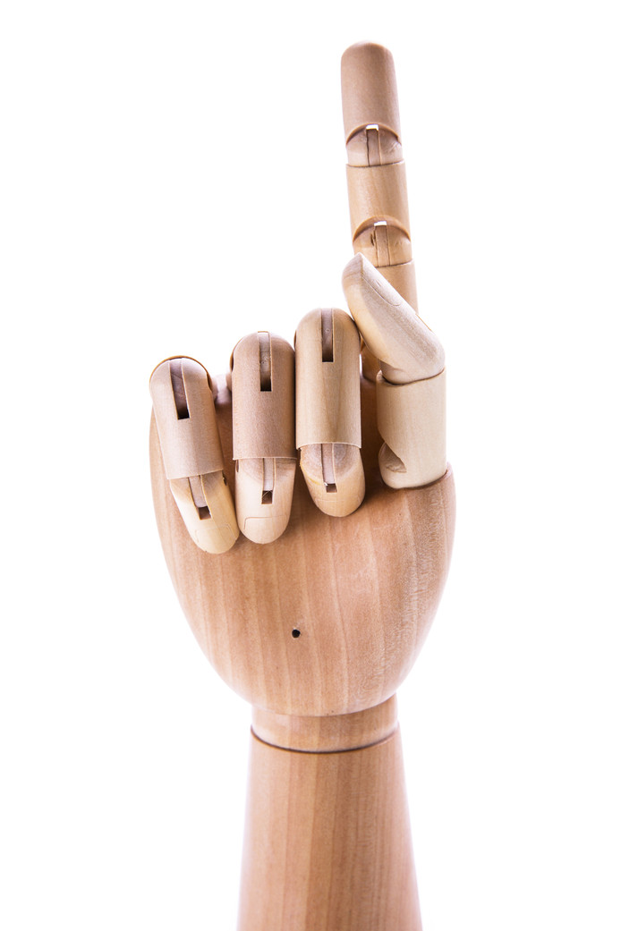 10. Beweegbare houten hand