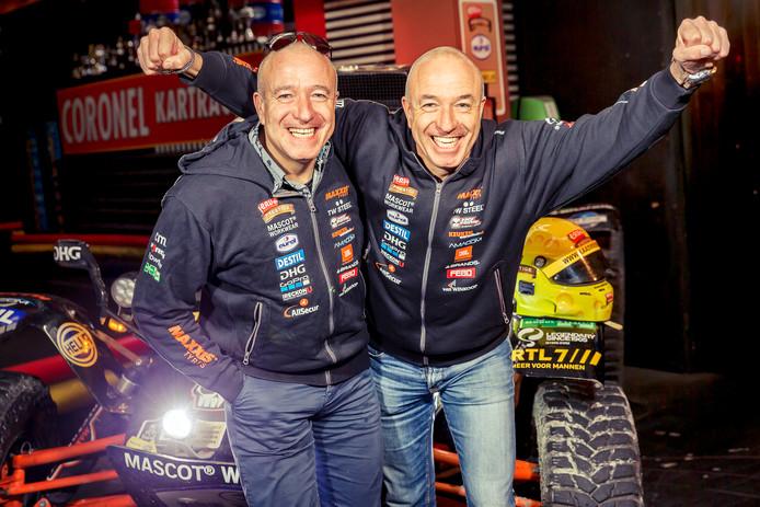Tim (links) en Tom Coronel hebben een aantal keren meegedaan aan de Dakar Rally. Tim gaat nu de uitdaging aan in Expeditie Robinson