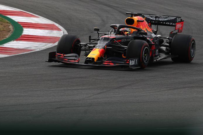 Max Verstappen kon de Mercedessen niet bedreigen.