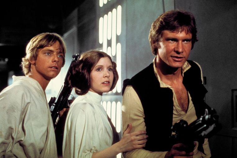 Luke Skywalker en Darth Vader zie je op een groot scherm met live achtergrondmuziek. Beeld 2018 & TM LUCASFILM LTD. ALL RIGHTS RESERVED