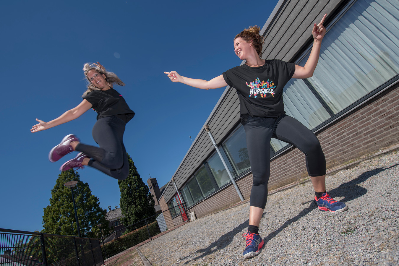 Sandra van Ree en Sanne Toebast beginnen in het dorpshuis van Wamel met dansschool Hupsakee.
