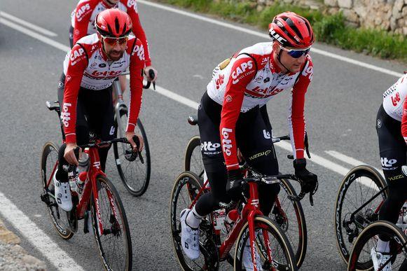 De Lotto-ploeg op stage in december vorig jaar.