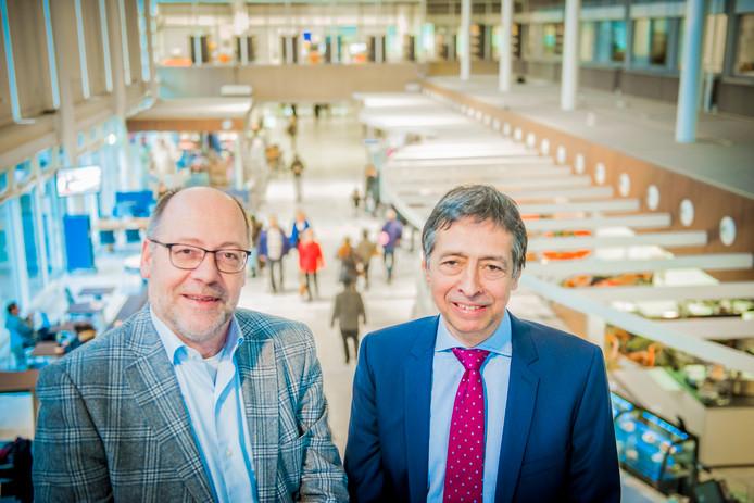 Willy Spaan (l.) en Paul Doop brengen de zorg uit Leiden en DenHaag dichter bij elkaar.
