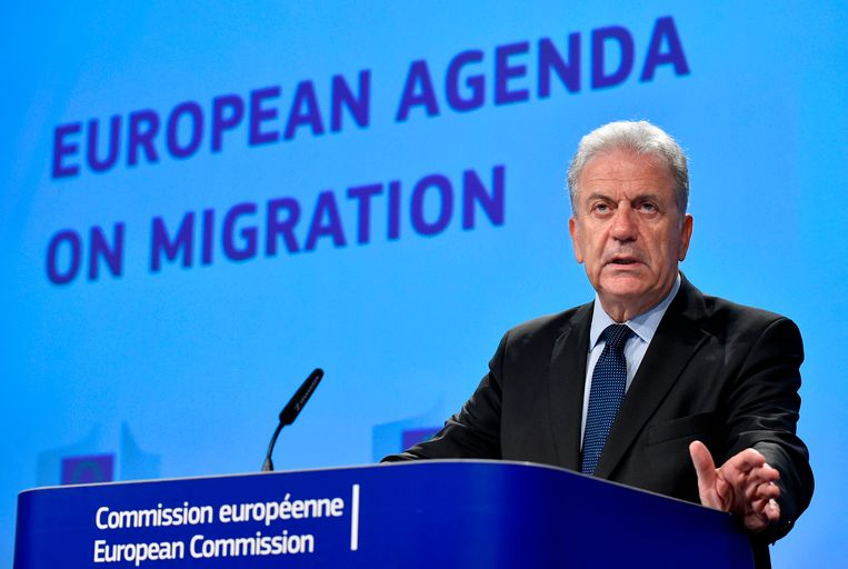 Eurocommissaris voor Binnenlandse Zaken en Migratie Dimitris Avramopoulos