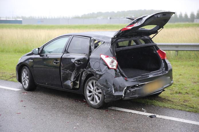 De auto raakte beschadigd bij het ongeval op de Zuidelijke Randweg.
