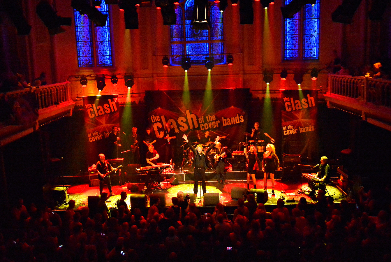 Joe Cover Band in Paradiso tijdens finale Clash of the Coverbands