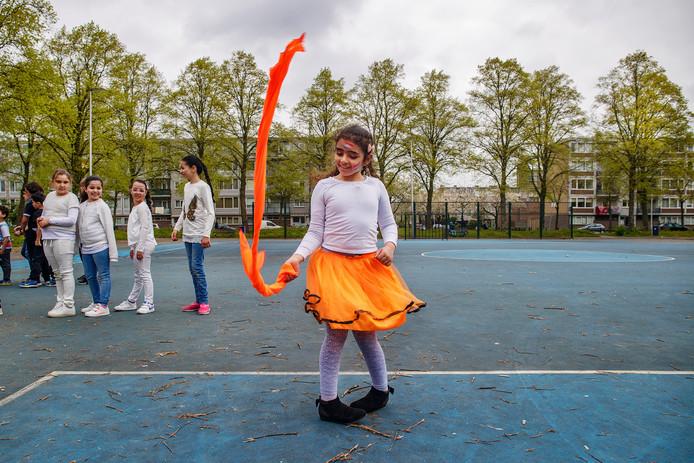 De koningspelen op de Da Costa school in Kanaleneiland