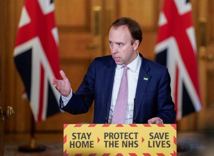 Le ministre britannique de la Santé, Matt Hancock
