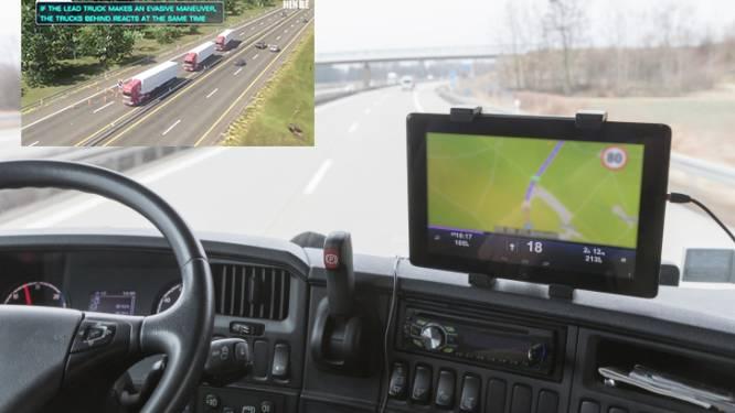 Zelfrijdende trucks volgende maand al op onze snelwegen