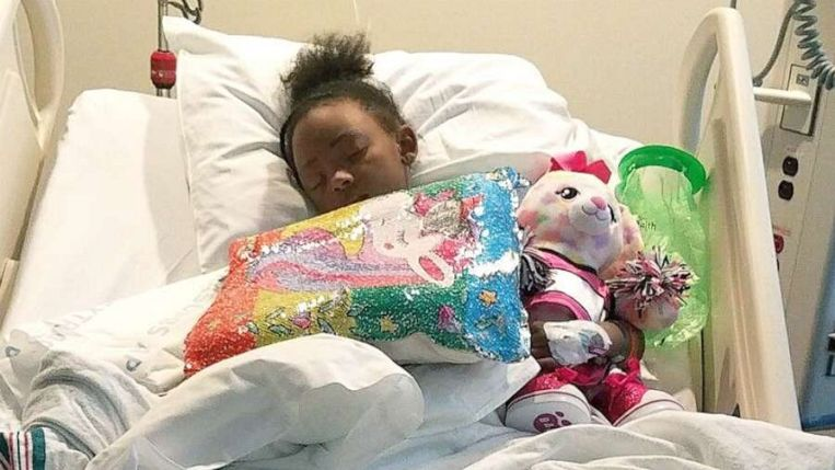 LaDerihanna herstelt nog in het ziekenhuis.