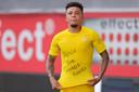 Jadon Sancho droeg zijn eerste van drie goals tegen SC Paderborn (1-6 winst) gisteren op aan George Floyd, de man die door politiegeweld omkwam in Minneapolis.