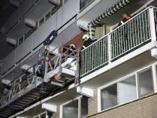 Brand op glazenwasserslift in Bergen op Zoom