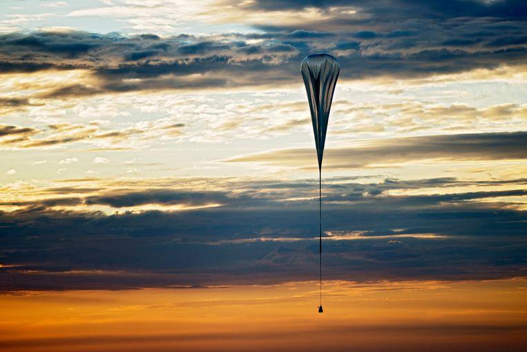 Een testvlucht afgelopen juli met de enorme luchtballon. Beeld AP