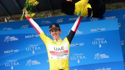 Toptalent Pogacar pakt eindzege in Ronde van Californië, slotrit is prooi voor Bol
