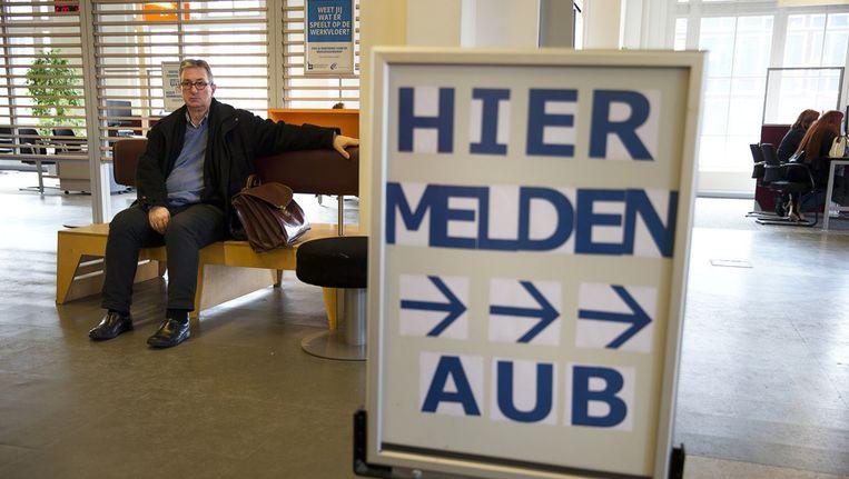 en werkzoekende bij een vestiging van het UWV in Rotterdam. Beeld anp