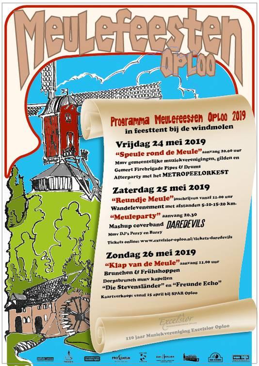 In Oploo worden voor het eerst sinds tientallen jaren weer molenfeesten gehouden. Een weekend lang is het feest. Met vier grote activiteiten tussen de molens.