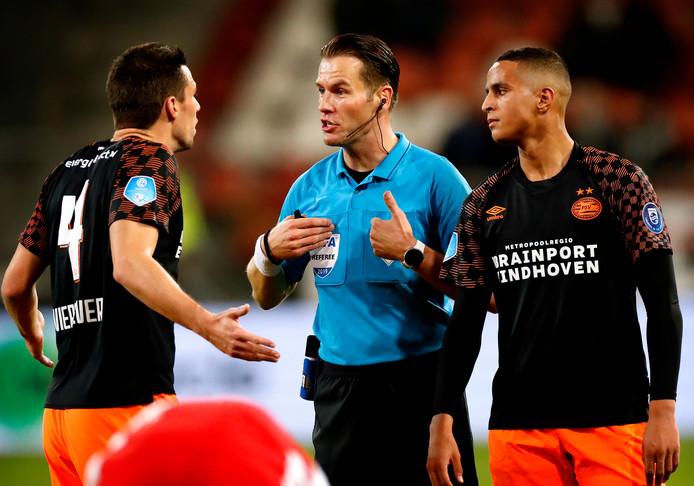 Danny Makkelie, gisteren tijdens FC Utrecht - PSV.
