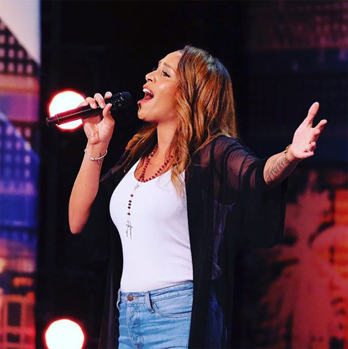 Glennis Grace tijdens haar America's Got Talent-auditie.