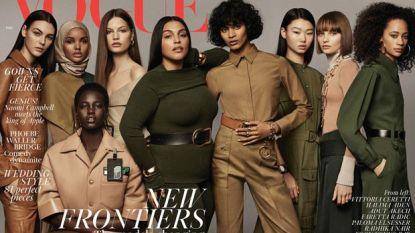 Britse Vogue zet voor het eerst een model met een hoofddoek op de cover