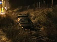 Auto belandt in de sloot door gladheid bij Kaatsheuvel