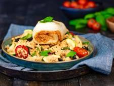 Wat Eten We Vandaag: Mediterrane pangasiusrolletjes met tomatencouscous