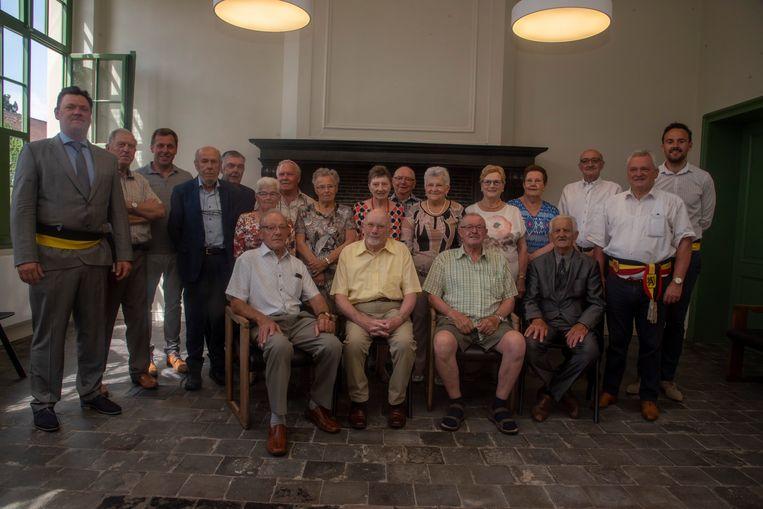 80 jarigen vieren feest in Laarne