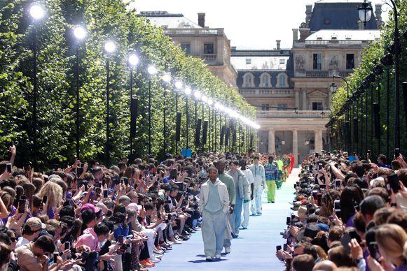 Ablohs eerste show voor Louis Vuitton in Parijs.