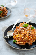 Spaghetti bolognese met tonijn