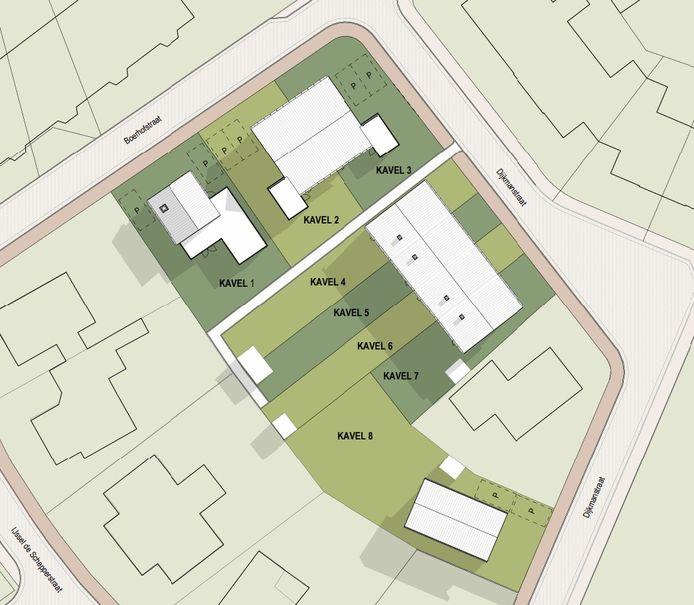 Zo gaat de indeling van het nieuwe buurtje in Okkenbroek eruit zien.