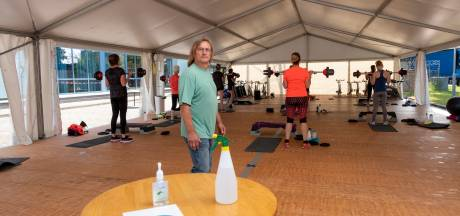 Buiten 'binnen' sporten, dat kan in de tent bij Bijsterbosch in Heerde en Hattem