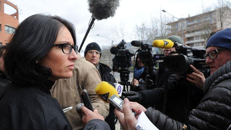 Agnès Dufetel-Cordier, advocate van een van de twee verdachte tieners. Beeld afp