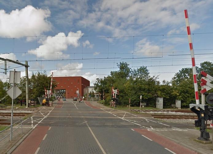 Spoorovergang op Van Hertumweg in Goes.