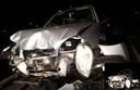 De auto raakte zwaar beschadigd door het ongeval op de N322 bij Zuilichem.