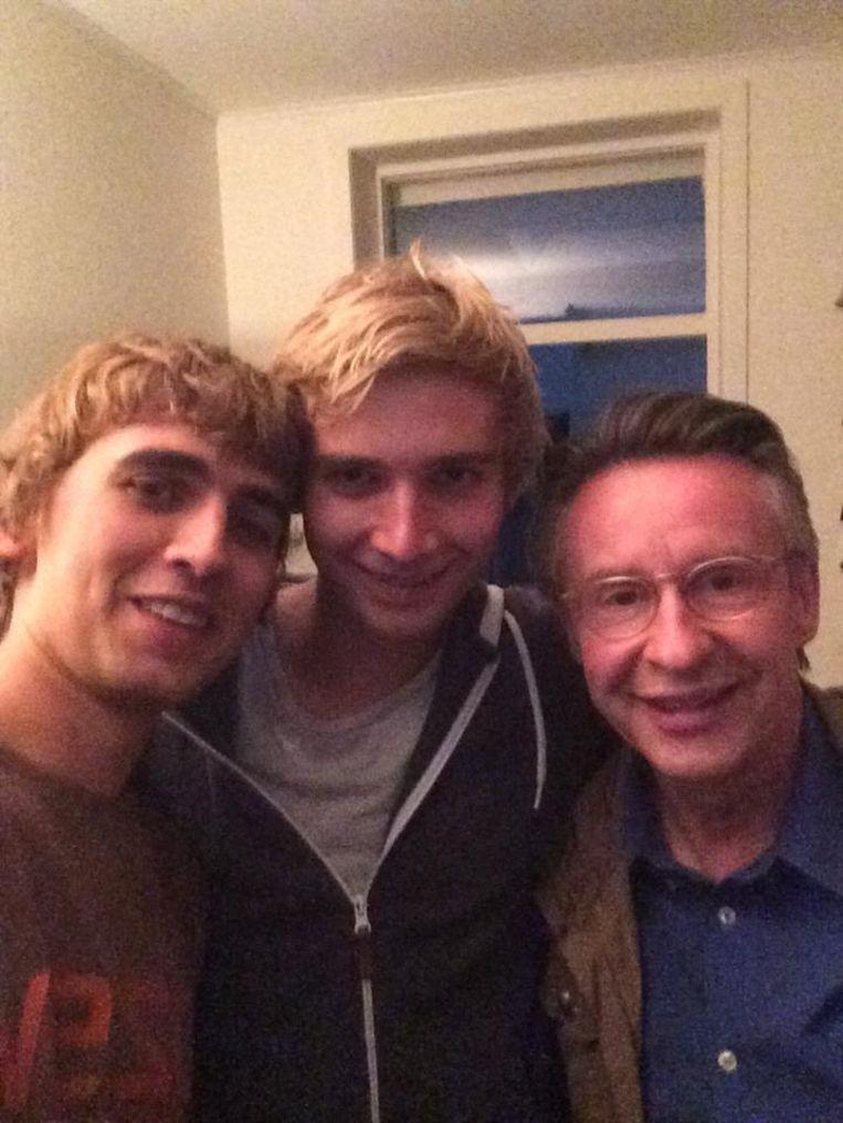 Jochen en Jonas met Martin Heylen na de opnames.